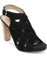 Lucky Brand Pexx Caged Platform Sandals - Lyst