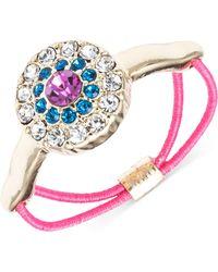 Rachel Rachel Roy Gold-tone Multi-color Crystal Evil Eye Stretch Ring - Lyst