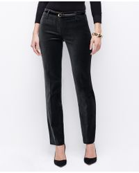 Ann Taylor Curvy Velvet Slim Pants - Lyst