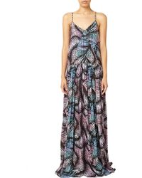 Matthew Williamson Beach Palm Print Gown - Lyst