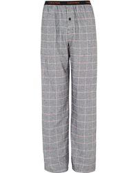 Calvin Klein Cotton 39alexander39 Check Pyjama Pant Grey - Lyst