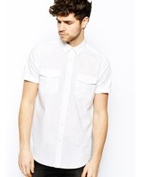 Asos Military Shirt in Short Sleeve - Lyst