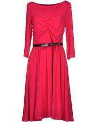 Max Mara Studio Long Sleeve Jersey Knee Length Dress - Lyst