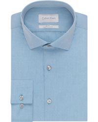 Calvin Klein Slim Fit Dress Shirt blue - Lyst