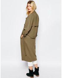 Sessun - Trench Coat In Khaki - Lyst