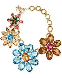 Dolce & Gabbana Mega Flower Jewel Necklace - Multi Colors (One Size) - Lyst