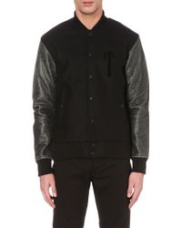 Trapstar - Varsity Wool And Leather Bomber Jacket - Lyst