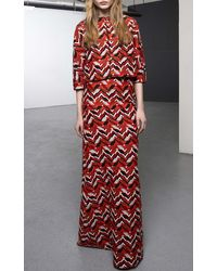 Giambattista Valli Embroidered Chevron Skirt - Lyst