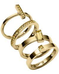 Michael Kors Stackable Rings Set Of 4 - Lyst