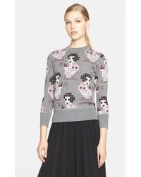 Marc Jacobs Pixilated Snow White Cashmere & Silk Sweater pink - Lyst