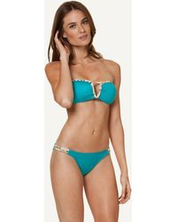 ViX Solid Turquoise Pyramid Bandeau blue - Lyst