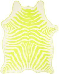 Maslin & Co. Chartreuse Zebra Beach Towel - Lyst
