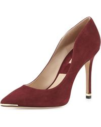 Michael Kors Avra Pointed Toe Suede Pump - Lyst