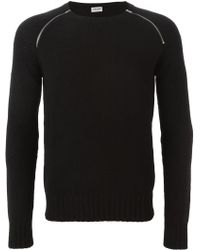 Saint Laurent | Zip Detail Sweater | Lyst