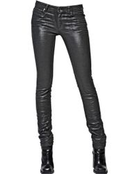 Diesel Black Gold 14cm Coated Stretch Denim Skinny Jeans - Lyst