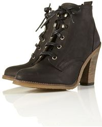 Topshop Abena Lace Up Ankle Boots - Lyst