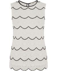 Oasis Crochet Lace Scallop Shell - Lyst