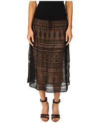 M Missoni Fancy Ribbon Knit Knee Length Skirt - Lyst