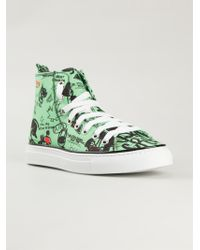 DSquared² Printed High-Top Sneakers - Lyst