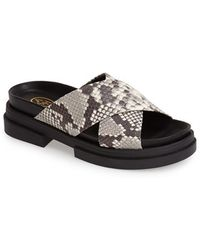 Ash 'Star' Crossover Strap Sandal animal - Lyst