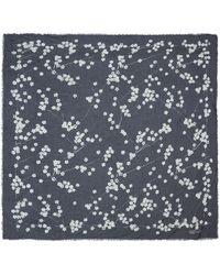 Alexander McQueen Black Blossom Modal Silk-Blend Scarf - Lyst