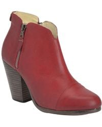 Rag & Bone Red Margot Boot - Lyst