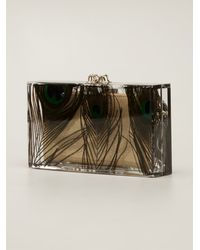 Charlotte Olympia Peacock Pandora Clutch - Lyst