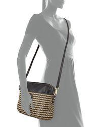Eric Javits Saxon Faux-Leather Cross-Body Bag black - Lyst
