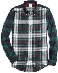 Brooks Brothers Non-iron Slim Fit Fun Plaid Sport Shirt - Lyst