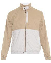 Bottega Veneta Harrington Bi-colour Jacket - Lyst