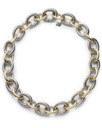 David Yurman Oval Extra-Large Link Necklace With Gold gold - Lyst