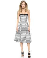 Nicholas Breton Stripe Ball Dress - White/Black - Lyst