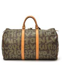 Louis Vuitton Graffiti Keepall 50 Travel Bag - Lyst