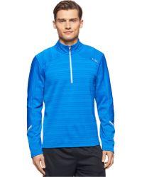 Calvin Klein   Performance Space-dyed Half-zip Shirt   Lyst