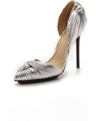 L.A.M.B. - Warner D'Orsay Court Shoes - Silver - Lyst