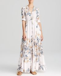 Free People Shirt Dress - After The Storm Printed Maxi - Lyst