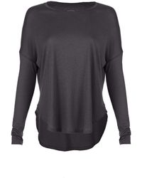 Scoop Long Sleeve Modal Cotton Tee - Lyst