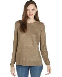 Rachel Zoe Gold Textured Knit Layered Sweater - Lyst