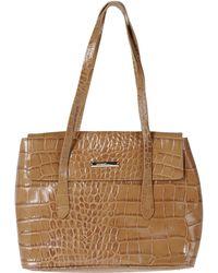Ferrè Milano - Large Leather Bag - Lyst