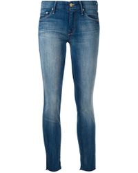 Mother 'Looker' Cropped Jeans - Lyst