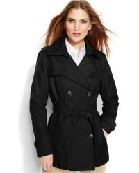 Michael Kors Michael Double-Breasted Belted Trench Coat - Lyst