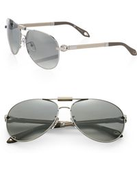 Givenchy 62mm Aviator Sunglasses - Lyst