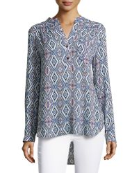 Nikkies Threads - Diamond-print Tab-sleeve Tunic - Lyst