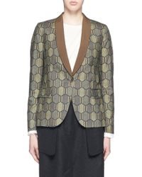 Ibrigu - One Of A Kind Honeycomb Foulard Silk Blazer - Lyst