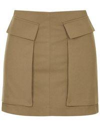 Topshop Utility Pelmet Skirt - Lyst