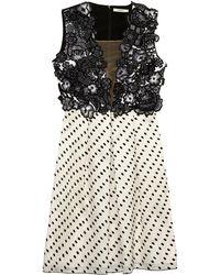 Erdem Becca Contrast-panel Dress - Lyst