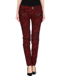 Balmain Casual Pants red - Lyst