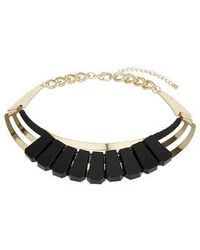 Topshop Opaque Curve Detail Collar - Lyst