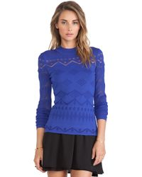 Catherine Malandrino Jackie Mock Turtleneck Sweater - Lyst