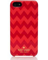 Kate Spade Chevron Iphone 5 Case - Lyst